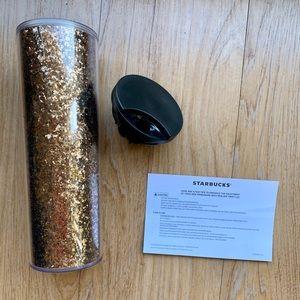Glittery golden Starbucks tumbler!